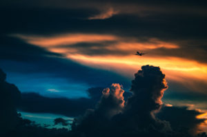 airplane in clouds2